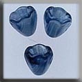 12029 - Small Bell Flower Marbled Blue 7mm - 3 per pkg